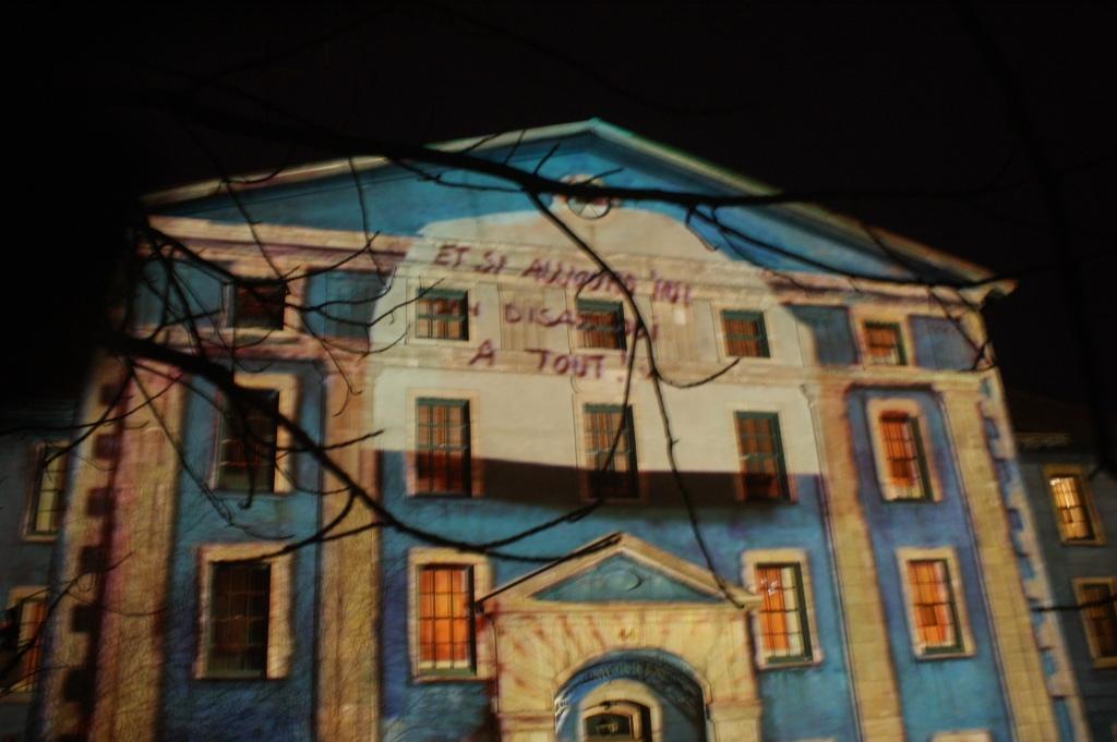 le Morrin Collège a été le support de la projection suisse