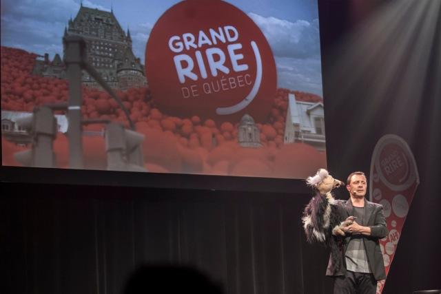 En créant un spectacle pour Québec, Yann Lambiel a charmé le public du Grand Rire. photo David Cannon