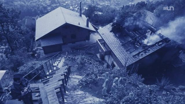 Chalet brûlé à Salvan