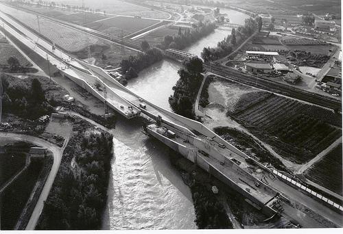 Pont de l'A9 à Riddes