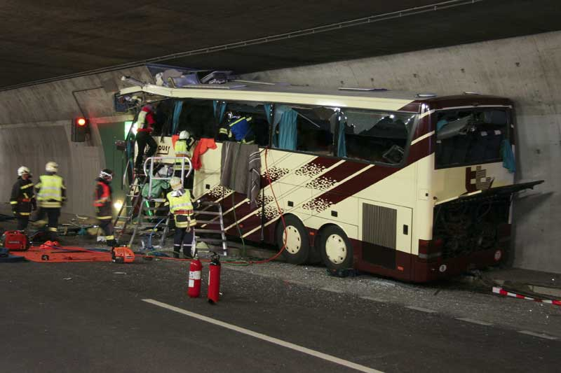 Accident dans le tunnel de Sierre