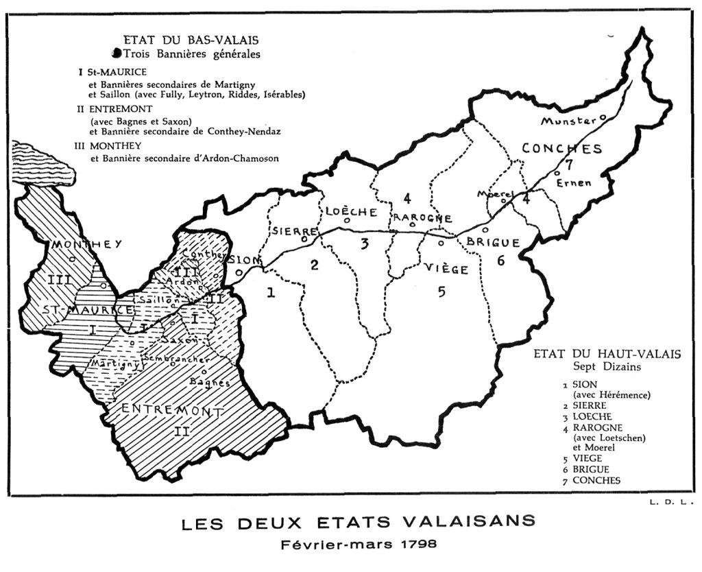 Division du Valais