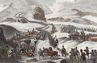 les troupes de Napoléon
