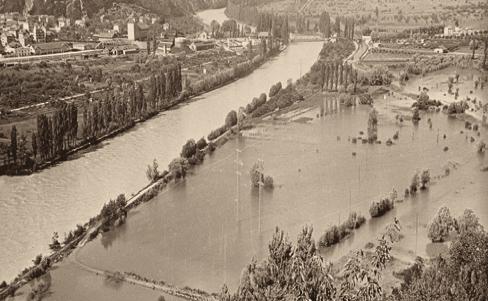 plaine du Rhône inondée