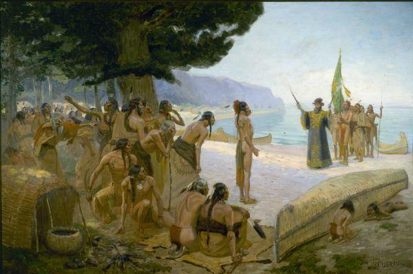 Jean Nicolet auprès des Amérindiens