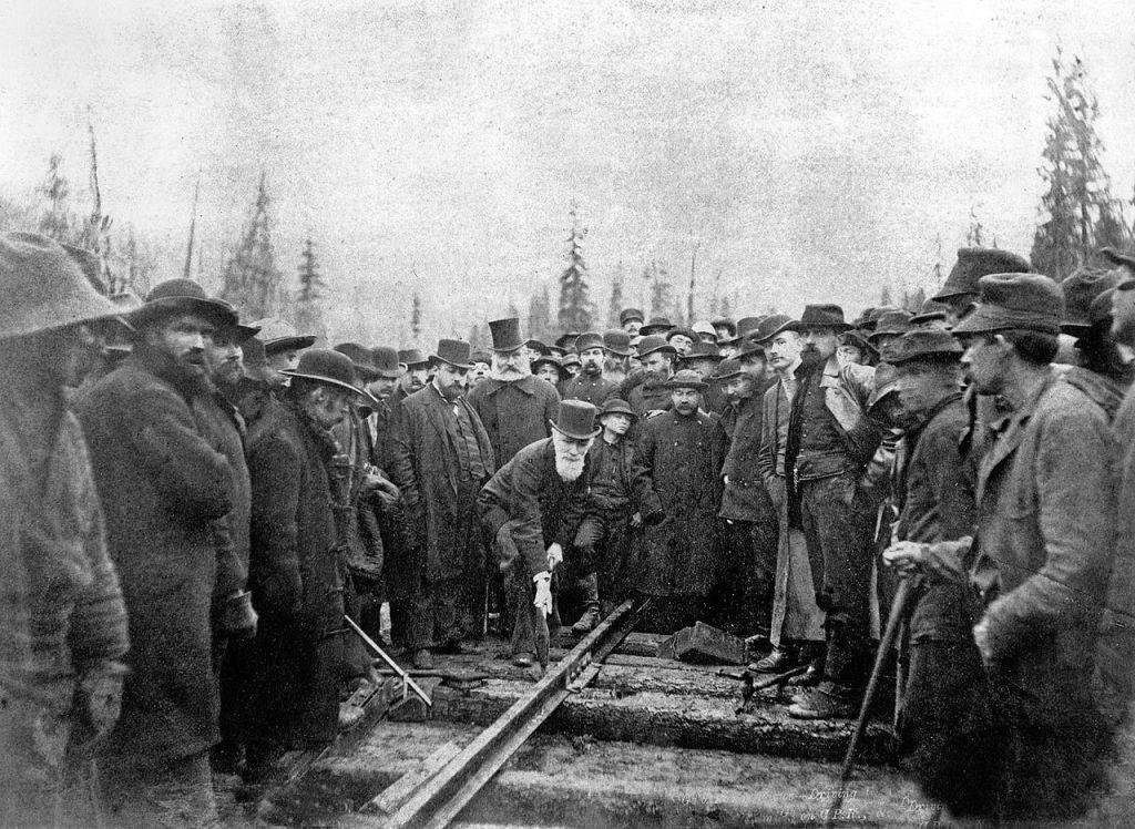 Dernier clou de la ligne de chemin de fer qui traverse le Canada