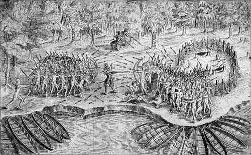 Champlain et les Amérindiens