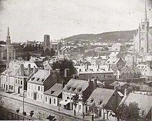 Vue de Montréal en 1852