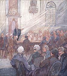 Première session dans la chapelle épiscopale de Québec