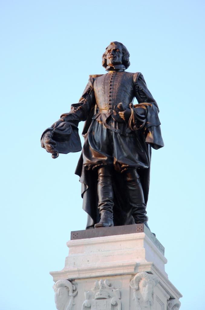 Statue de Samuel de Champlain à Québec