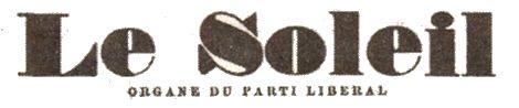 Premier logo du journal Le Soleil