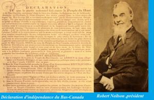 Nelson et sa déclaration d'indépendance