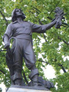 Monument Louis Hébert au parc Montmorency à Québec