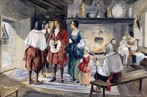 Jean Talon visite les habitants de la Nouvelle-France.