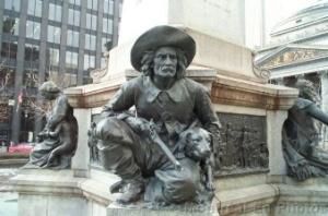 Monument de la chienne Pilote et de son maître à Montréal