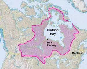 Terre de Rupert donnée à la Compagnie de la Baie d'Hudson