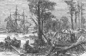 Fort James en 1607