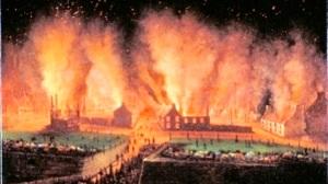 L'incendie de Saint-Roch par Légaré