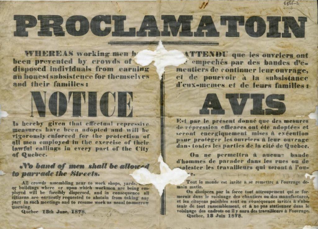 Proclamation du 13 juin 1878