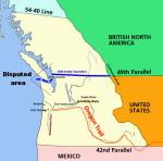 Les frontières de l'Oregon Country