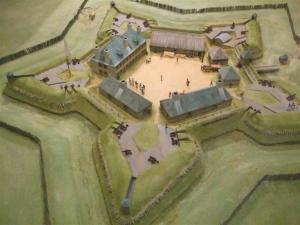 Maquette du fort Beauséjour