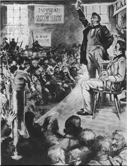 Papineau devant une assemblée de patriotes