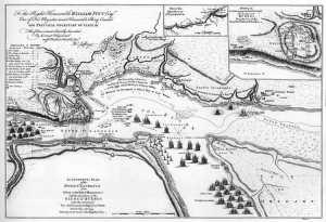 Les positions anglaises devant Québec en juin 1759