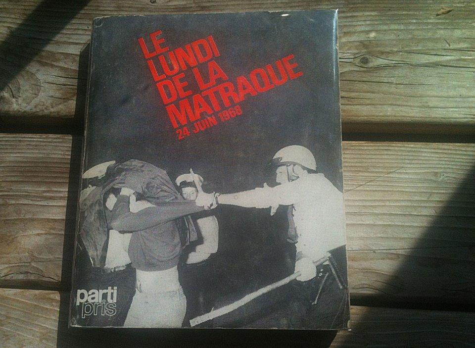 Couverture du livre Le Lundi de la matraque, éditions Parti Pris, 1968
