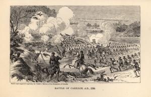 Victoire des troupes de Montcalm à Carillon par Henry Alexander Ogden