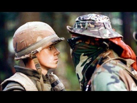 Face à face entre militaire et guerrier Mohaws lors de la Crise d'Oka
