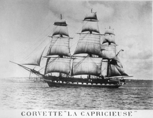Corvette La Capricieuse  © Bibliothèque et Archives nationales du Québec