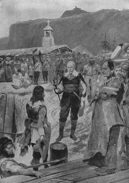 Champlain remet Québec aux mains des frères Kirke