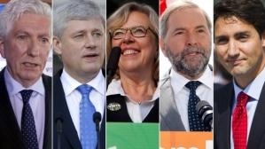 Les cinq leaders canadiens