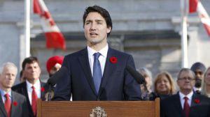 Justin Trudeau lors de son discours inaugural (photo TVAnouvelles.ca)