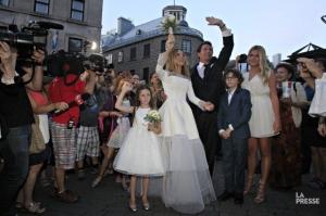 Mariage de Julie Snyder et Pierre Karl Péladeau à Québec, le 15 août 2015 (photo lapresse.ca)