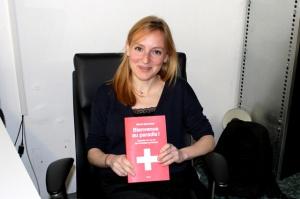 Marie Maurisse présente son livre « Bienvenue au paradis ». [swissinfo.ch)