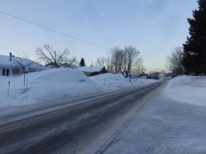 Les bancs de neige de ma rue