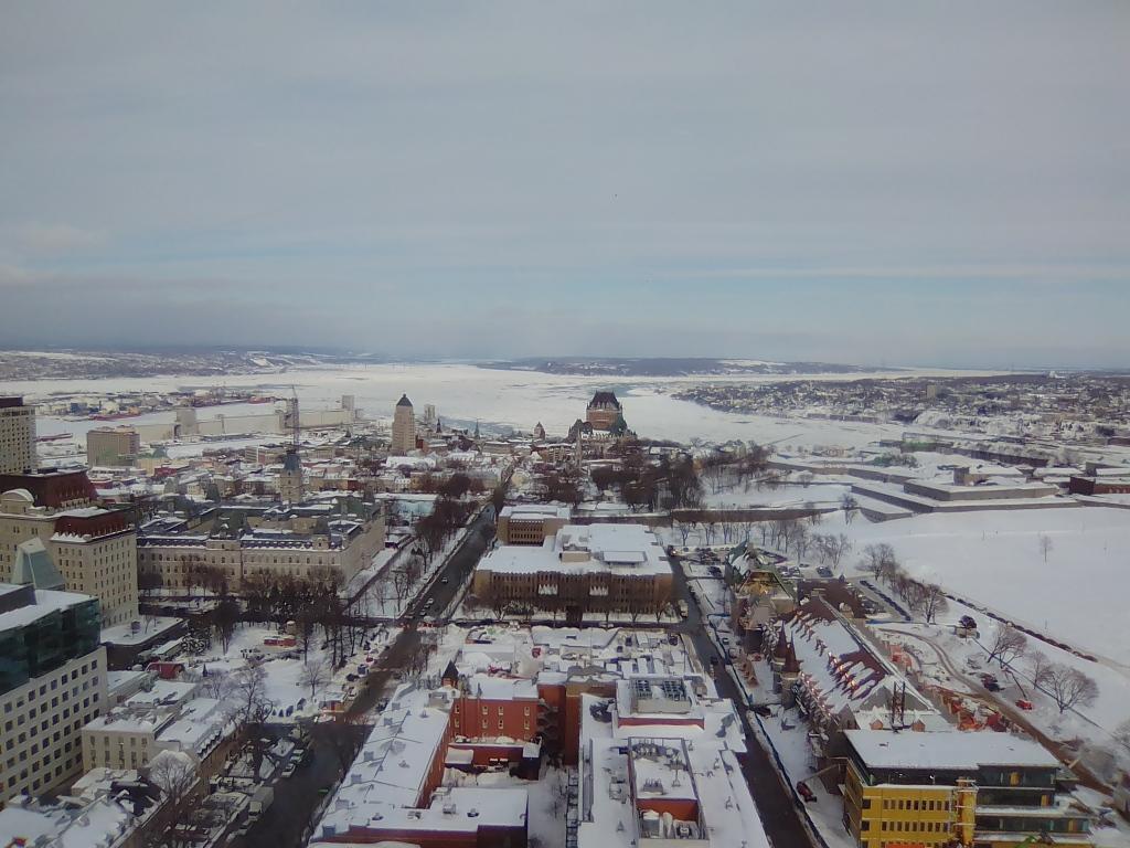 Québec est belle en hiver.